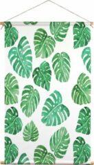 Groene We Maqe textielposter monstera bladeren Muchable 45x70 cm