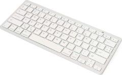 Zilveren Toetsenbord Draadloos Bluetooth Universeel Keyboard Wireless Wit - QWERTY - van iCall