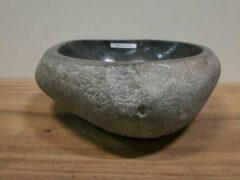 Grijze Puurteak Waskom natuursteen FL2098 - 43x42x15cm