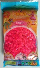 Hama strijkkralen fuchsia roze/ felroze, zakje met 1.000 stuks