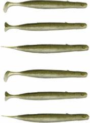 Kaki Savage Gear Gravity Stick Paddletail - Khaki - 14cm - 15g - 6 Stuks - Khaki