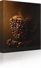 Sound Art Canvas + Bluetooth Speaker Coffee Cup In Coffee Beans (23 x 28cm)
