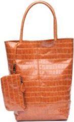 Bruine Zebra Trends Natural Bag Kartel Croco camel Damestas