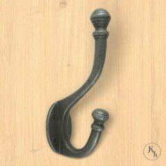 Kapstok-haken.nl Set van 10 grijze kapstokhaken Robuust