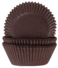 Bruine House of Marie Cupcake Cups Bruin 50x33mm. 50 st.