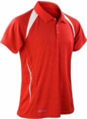 Spiro Heren Sport Team Spirit Performance Polo Shirt (Rood/Wit)