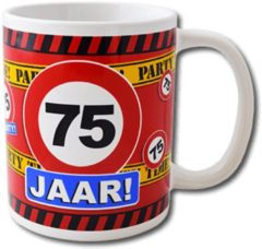 Paperdreams Funny Mugs - verkeersbord 75 jaar