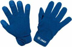 Blauwe Jako Fleece Spelershandschoenen - Royal   Maat: 8