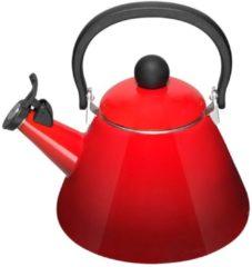 Rode Le Creuset Kone fluitketel - 1,6 liter - kersenrood