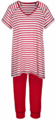 Marineblauwe Pyjama Simone rood/wit/marine
