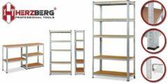 Zilveren Herzberg® - Opbergrek – Plank Gegalvaniseerd staal - 180cm x 90 cm HG-8027