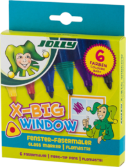 Paarse Jolly X-Big Glas Markers 6 stuks