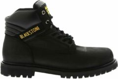Zwarte Blackstone schoen 929/928 6 oil nubuck black - Maat 45
