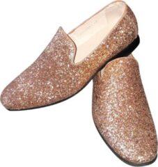 CHIAMAX Heren - glitter schoen - disco schoen - party shoe - De Toppers - feest - kerstmis - carnaval - glitter and glamour - goud - 46