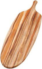 Rode Teakhaus Snijplank - Canoe Broodplank - Langwerpig - incl Handgreep - 67,3 cm x 21,5 cm - Bruin