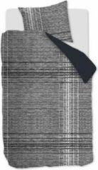 Zwarte Vtwonen VT Wonen Check XL Dekbedovertrek - Flanel - Eenpersoons - 140x200/220 cm - Black