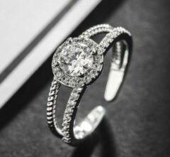 Fashion Jewelry Dubbele band ring | zilver gekleurd