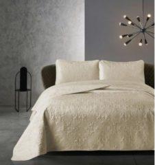 Creme witte Dreamhouse Bedsprei - Clara - Gewatteerd - Luxe uitstraling - Incl. Kussenslopen - Zand