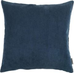 Donkerblauwe Lucy's Living Luxe sierkussen donker blauw - 50 x 50 cm - polyester - wonen - interieur - woonaccessoires