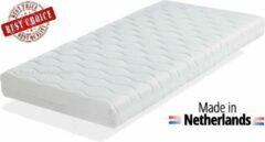Witte Ledikant Matras 80x190x10 cm Comfort schuim met anti-allergische wasbare hoes. Royalmeubelcenter.nl ®