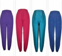 Donkergroene Merkloos / Sans marque Dames pyjamabroek 4 stuks met elastieken pijpjes M 38-40