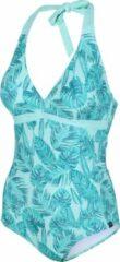 Blauwe Regatta badpak Flavia dames polyamide turquoise maat 40