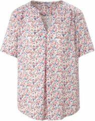 Shirt met korte mouwen en millefleursprint Van Peter Hahn wit