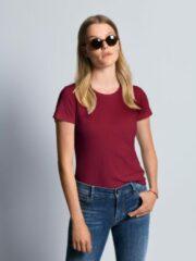 Shirt model Anni van 100% katoen met ronde hals Van Bogner rood