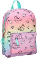 Milky Kiss Rainbows & Unicorns Kinderrugzak 34 cm - Multicolor - Regenboog en eenhoorn print