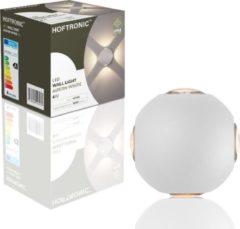 HOFTRONIC™ LED wandlamp Wit Rond - IP54 - Vierzijdig oplichtend - 4 Watt - Austin - Uitermate geschikt voor binnen en buiten