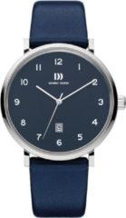 Zilveren Danish Design watches edelstalen herenhorloge Yukon Silver Blue Large IQ22Q1216