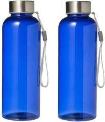 Merkloos / Sans marque 2 stuks Lekvrije drinkfles/waterfles 500 ml blauw - bpa-vrij - bidon