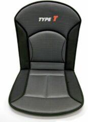 Grijze Carpoint stoelkussen Type T 90 x 45 cm zwart/grijs