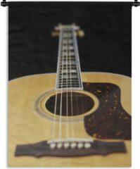 1001Tapestries Wandkleed Akoestische gitaar - Een liggende akoestische gitaar Wandkleed katoen 150x200 cm - Wandtapijt met foto