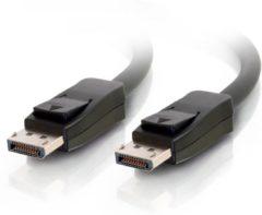Zwarte CablesToGo C2G 5.0m DisplayPort w/ Latches M/M 5m DisplayPort DisplayPort Zwart
