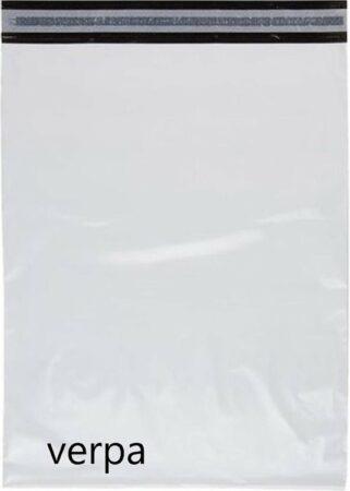 Afbeelding van Witte Verpa 20 stuks - Verzendzakken 360 x 500 mm – 65 micron (kleding webshop)