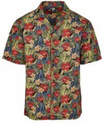 Urban Classics overhemd pattern resort shirt Gemengde Kleuren-S