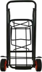 ProPlus inklapbare bagagetrolley staal zwart 30 kg