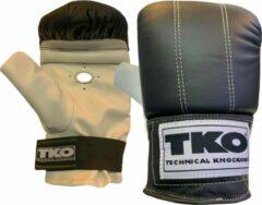 Witte TKO Pro Heavy Bag - Zakhandschoenen Boksen - Vechtsporthandschoenen - Leer - Zwart - One Size