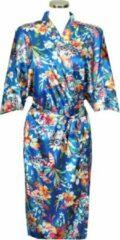 TA-HWA Chinese Kimono Sea of Flowers Blauw