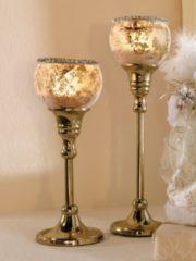2er Set Kerzenleuchter gold