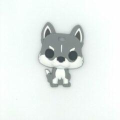 Bijtketting-winkel Hond Spitse Oren Bijtketting Kauwsieraad - Donkergrijs