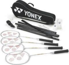 Zilveren Yonex Badmintonset 4 Spelers Staal/nylon Zwart 15-delig