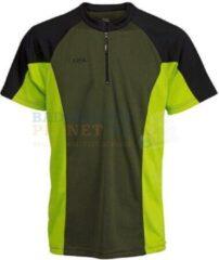 Rsl t shirt badminton tennis zwart lime maat