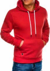 Merkloos / Sans marque Hoodie - heren - effen - basic - rood