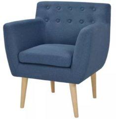 VidaXL Fauteuil 67x59x77 cm stof blauw