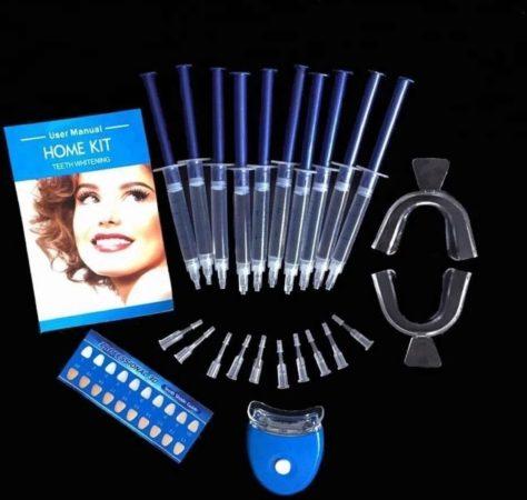 Afbeelding van White teeth shopping NL Tanden Bleken - Tandbleek Set - Tandenbleekset - Tandbleekset Premium - Tanden Bleekset - Tandbleekset Premium - 3D LED - Zonder Peroxide - 10 Gelspuiten - Veilig - Thuis bleken - Witte Tanden - Professionele Teeth Whitening - Tand