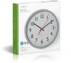 Zilveren Nedis Wall Clock | 30 cm | White