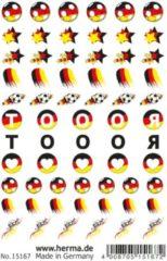 HERMA 15167 CLASSIC nail tattoo German star