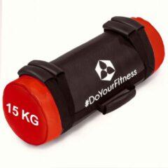 Rode #DoYourFitness® - Core Bag / Gewicht Bag »Carolous« van 5 kg tot 30 kg - 2 handgrepen en 1 riem - Kracht / fitness bag voor kracht-, uithoudings-, gevechts- en coördinatietraining - 15kg